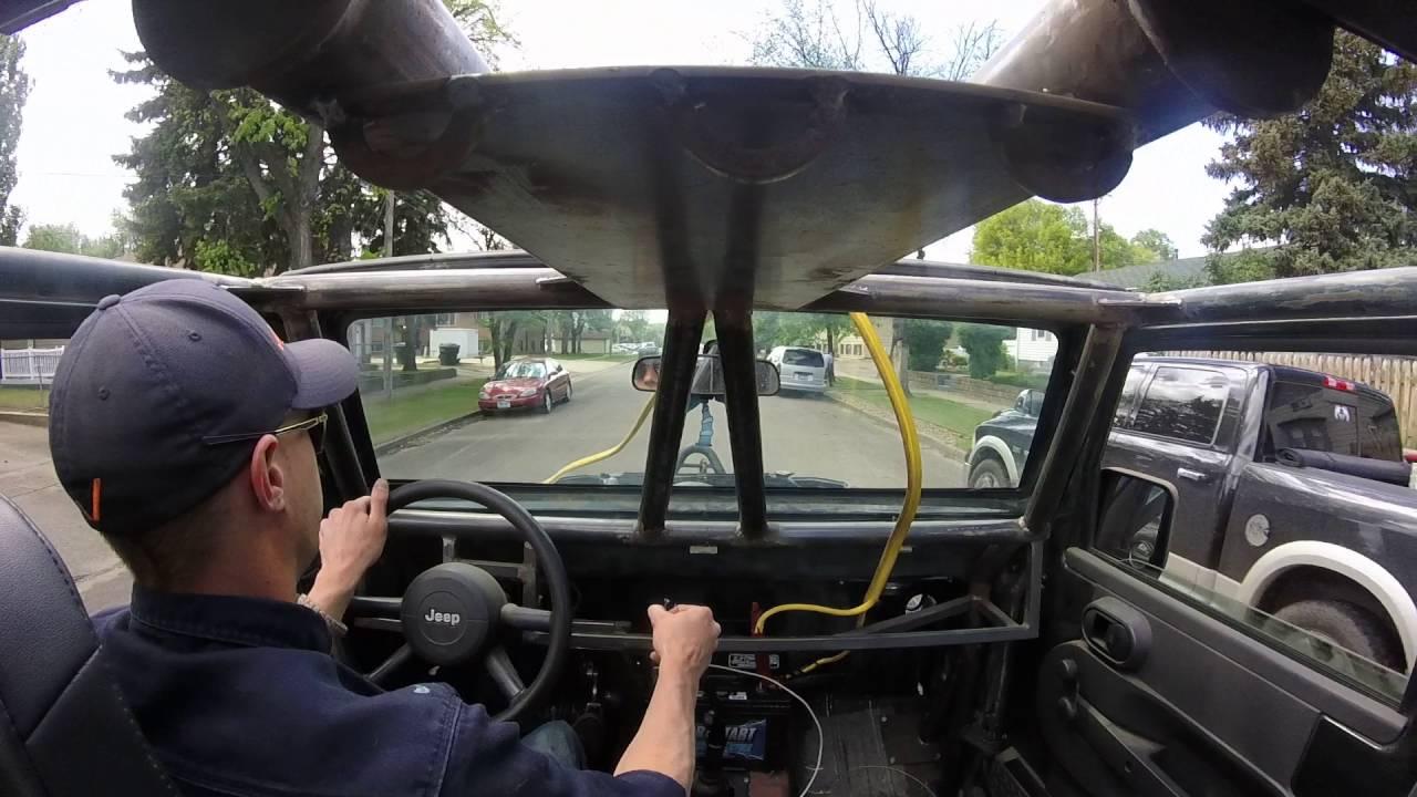 jeep jk 4bt cummins first drive youtube