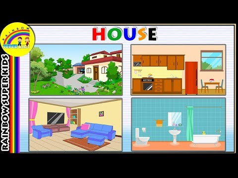 Kids Vocabulary - Home - Parts Of The House - House Tour