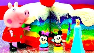 How To Make Ice Cream Play Doh Rainbow Cake Peppa Pig Frozen Anna Elsa Mickey Minnie Mouse Fluffyjet