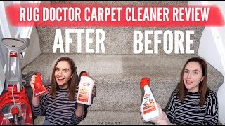 SHOCKING SATISFYING CARPET CLEANING / RUG DOCTOR CARPET CLEANER REVIEW/ WATCH STAINS DISSAPEAR #AD.