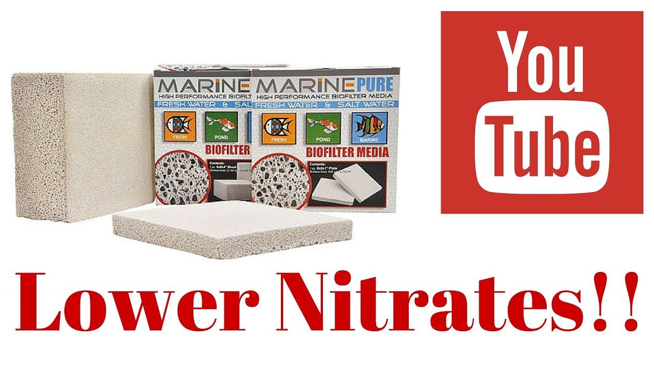 marine pure block to lower nitrates in saltwater aquarium