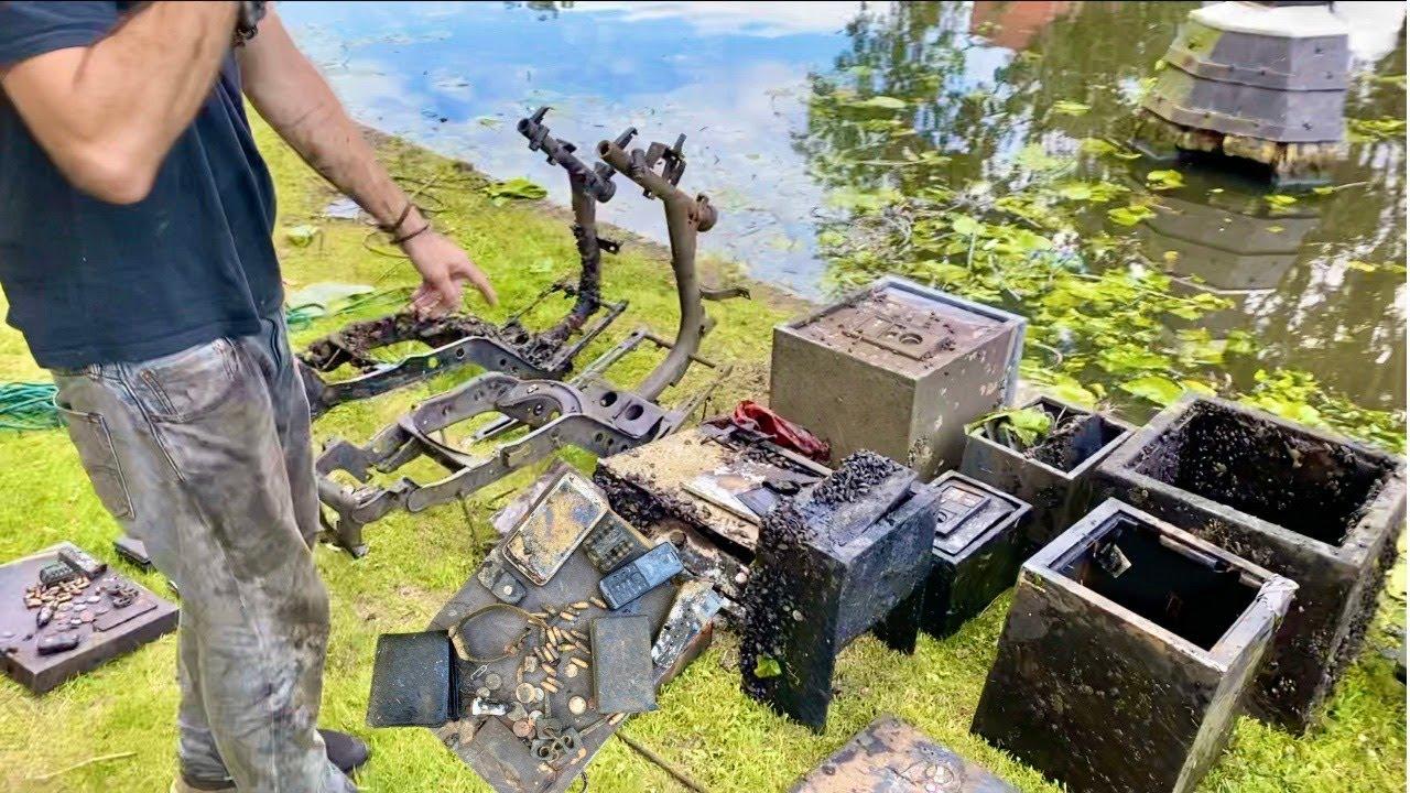 Gun, Jewelry, Money & Ammunition Found in Multiple SAFES! (Magnet Fishing)