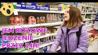 Jem RÓŻOWE JEDZENIE przez 24 godziny - Challenge - zakupy / Amelie