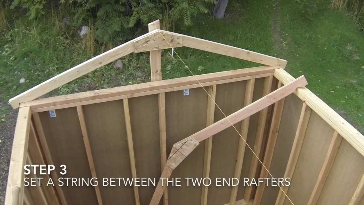 How To Build A Shed - Part 7 - Shed Roof Framing - YouTube