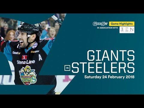 Stena Line Belfast Giants v Sheffield Steelers Highlights