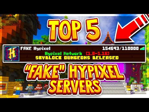 TOP 5 FAKE HYPIXEL SERVERS 1 8 1 16 (New Cracked