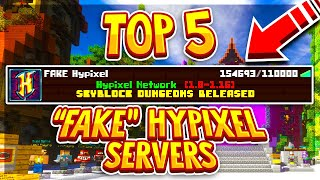 TOP 5 FAKE HYPIXEL SERVERS!   1.8-1.16 (New Cracked Minecraft servers 2020)