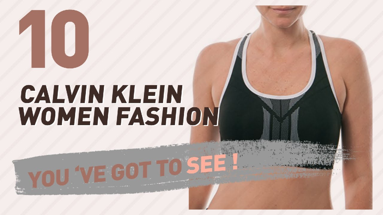 73c238643d420 Calvin Klein Sports Bras    New   Popular 2017 - YouTube