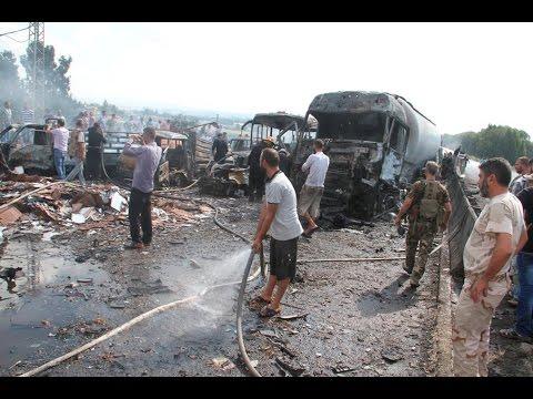 Primeras imágenes de la doble explosión en la ciudad portuaria de Tartus