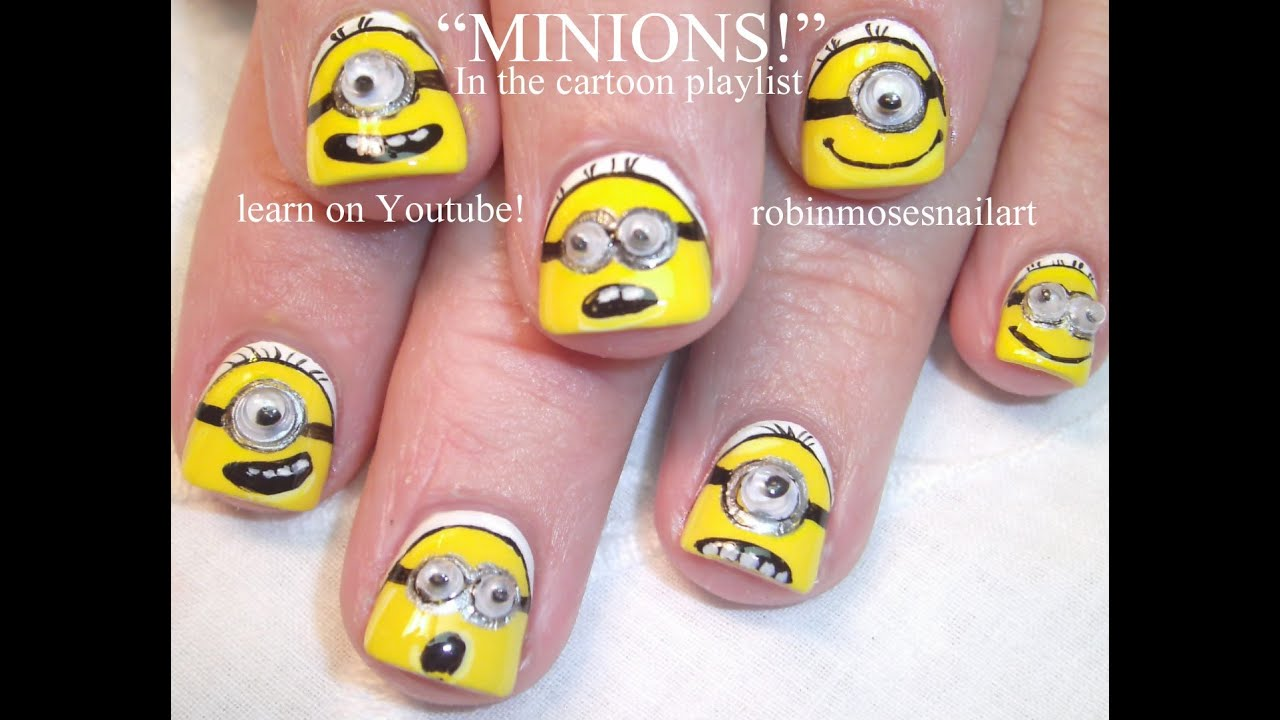 Minion Nail Art Tutorial for Short Nails | DIY Nail Art for ...