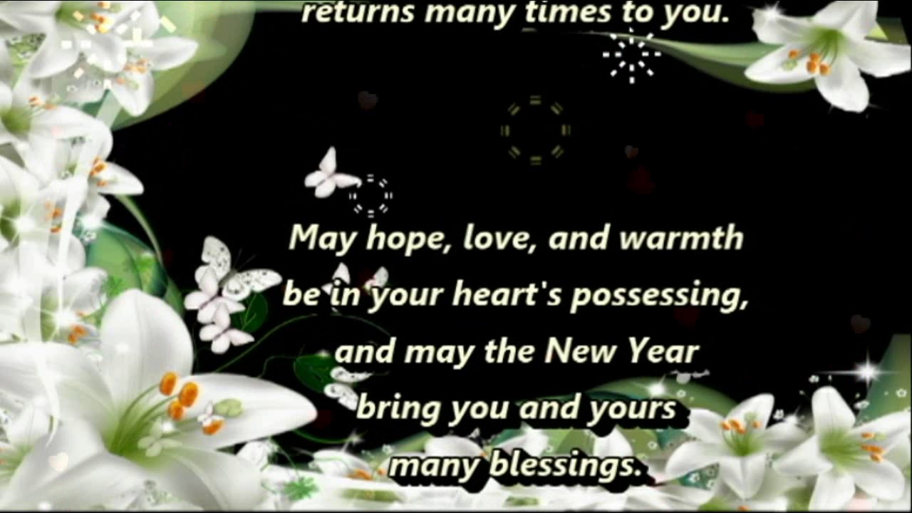 a new year blessinghappy new yearwishes greetingssmsquotessayingsblessingsprayers youtube