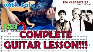 Zombie - The Cranberries(Complete Guitar Lesson/Cover)Dolores O'Riordan Tribute