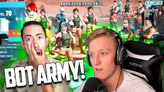 TFUE Sent His BOT ARMY to DESTROY ME!! - Fortnite HELP ME