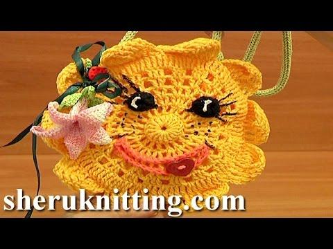 Crochet Sun Purse For Kids Tutorial 9 Part 1 Of 2 Free Crochet Purse