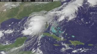 Satellite Tracks Tropical Storm Hermine over Southeastern U.S.