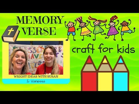 BIBLE MEMORY VERSE CRAFT for kids