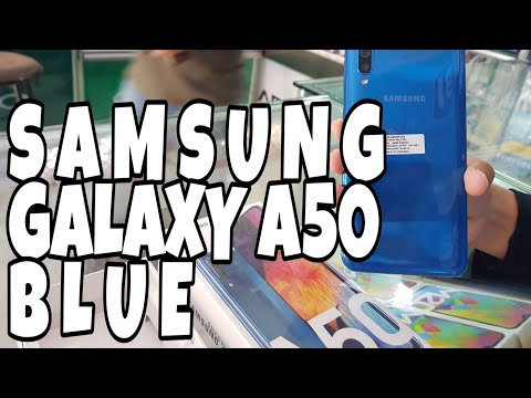 SAMSUNG GALAXY A50 BLUE Review Indonesia