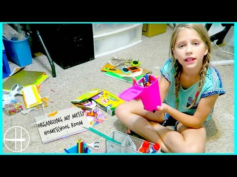 Organizing my messy Home School Room Tour Homework Area Messy Mondays Hopes vlogs