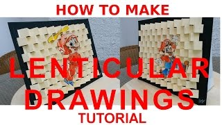 TUTORIAL: How to draw MAGIC LENTICULAR DRAWINGS!!
