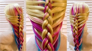 Простая прическа в школу с плетением на каждый день  Easy school hairstyle