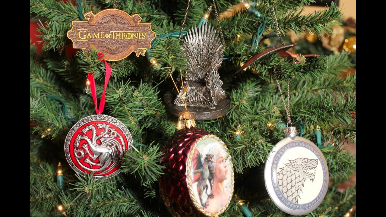 game of thrones christmas ornaments review youtube