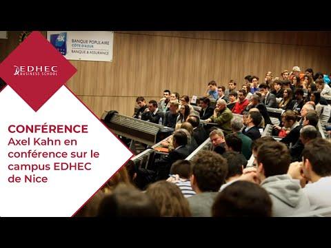 Axel Kahn en conférence sur le campus EDHEC de Nice