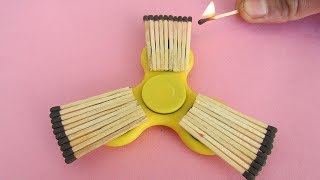 Fidget Spinner Burning With Matchstick Science Experiment Trick By Magic Trick Guru