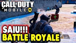 Saiu Battle Royale Call Of Duty Mobile Android