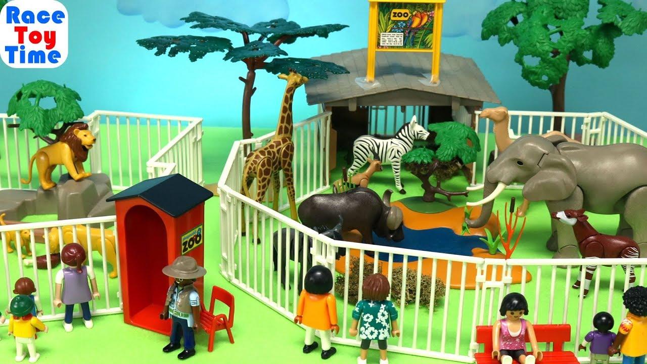 Playmobil Safari Animals Zoo - Fun Toys For Kids Video