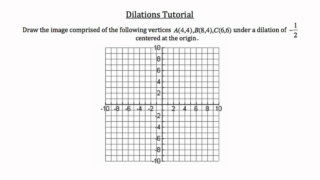 Transformational Geometry Dilations YouTube – Dilations Worksheets