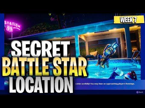 WEEK 7 SECRET BATTLE STAR LOCATION GUIDE SEASON 10 - Summer Slurp Challenges Battle Star Season X