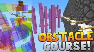 Minecraft OBSTACLE COURSE PARKOUR 4! | (NEW 1.9 JUMPS & MORE)