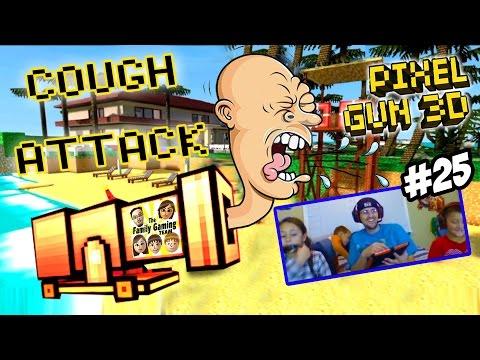 Dad & Kids play Pixel Gun 3D: COUGH ATTACK!  Alajidamahnabeard!  Fappas!  WHAT? (Face Cam Part 25)