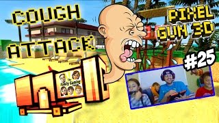Dad & Kids play Pixel Gun 3D: COUGH ATTACK!  Alajidamahnabeard!  Fappas!  WHAT? (Face Cam Part 25)
