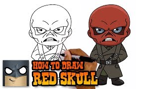 How to Draw Red Skull | Infinity War (Art Tutorial)