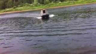 Лодка ПВХ Gladiator с тентом + мотор Mercury 9,9 - Волга 2014 г.