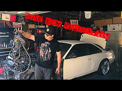 Relocating fuse box on 240sx s14 - YouTube