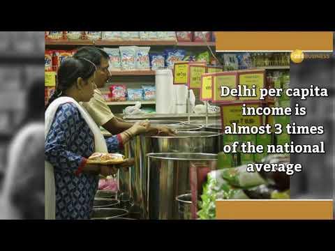 Delhi per capita income almost 3x of national average