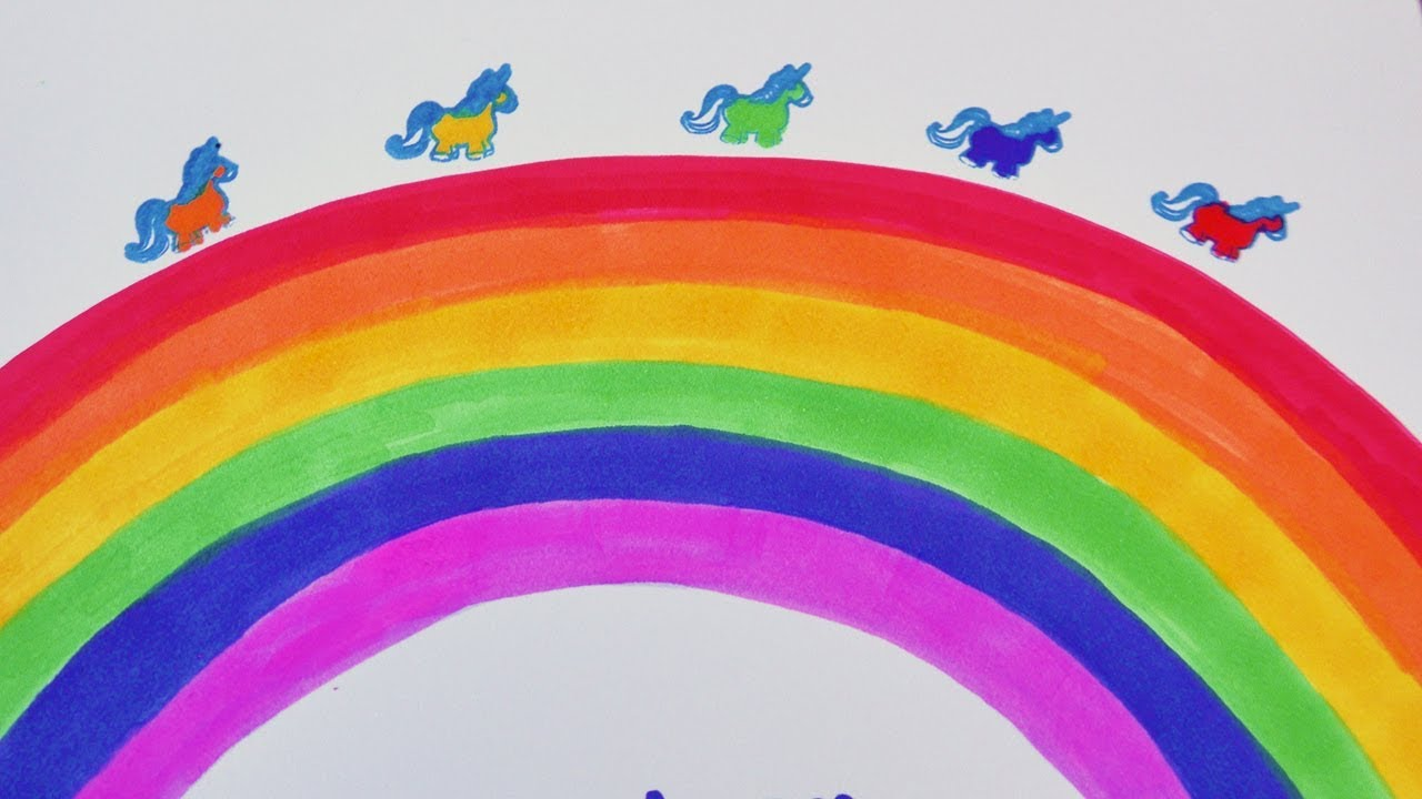 Regenbogen Malen | DIY Idee Als Deko Fürs Zimmer | Geschenke Selber Machen  Mit Kindern | Rainbow