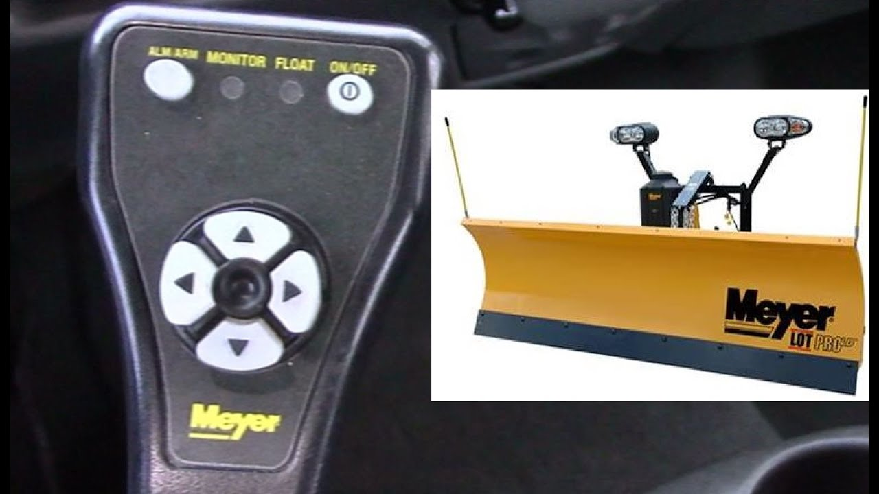 meyer snow plow pistol grip controller how to operate float mode and hfp hands free plowing  meyer snow plow 12v square touch pad