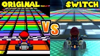 Mario Kart 8 Deluxe Retro Track Comparison Switch Vs SNES N64 GBA GCN DS Wii 3DS