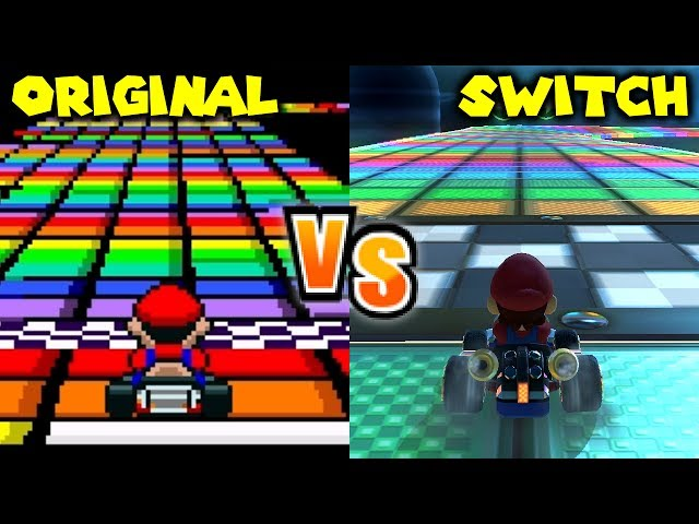 Mario Kart 8 Deluxe - Retro Track Comparison (Switch vs SNES, N64, GBA, GCN, DS, Wii, 3DS)