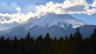 微速度撮影、富士山、富士吉田レーダードーム