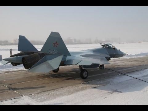 Sukhoi - T-50-4 4th Pak Fa Prototype Stealth Fighter 7,000km Flight Test [480p]