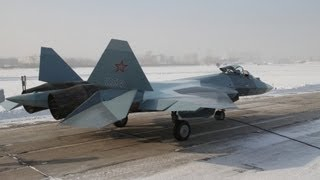 Sukhoi - T-50-4 4th Pak Fa Prototype Stealth Fighter 7,000km Flight Test [480p]