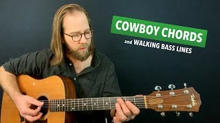 Cowboy chords & walking bass lines (Warm Up #16)