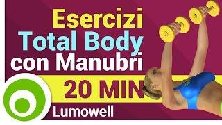 Esercizi con Manubri a Casa - Allenamento Completo per Tutto il Corpo