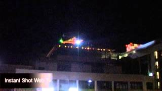 elicottero volo notturno Arco Trento 18 08 2013