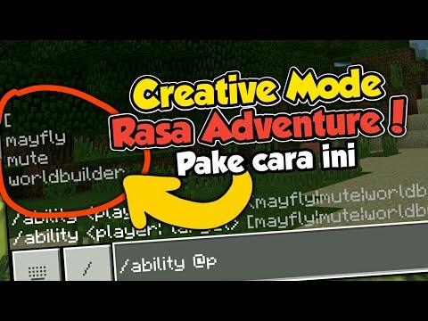 CREATIVE MODE SERASA ADVENTURE KALO PAKE CARA INI | Command Mcpe 1.6!