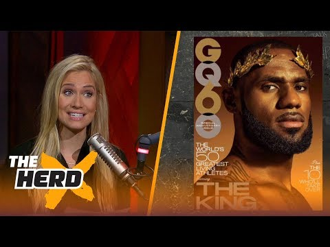 GQ names LeBron James the greatest living athlete - Kristine and Colin React | THE HERD